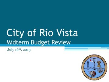 City of Rio Vista Midterm Budget Review for July 1, 2013 / June 30 ...