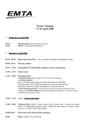 Torino Meeting 17-18 April 2008 - EMTA