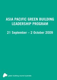 asia pacific green building leadership program - The Professional ...
