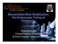 Resuscitation/Risk Stratification, Pre-Endoscopic Timing of Endoscopy