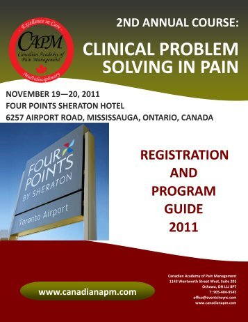 Program and Registration Guide - Canadian Academy of Pain ...