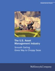 The US Asset Management Industry - McKinsey & Company