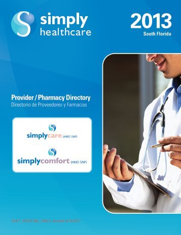 Provider/Pharmacy Directory - Simply Healthcare Plans