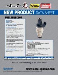 NEW PRODUCT DATA SHEET - efisupply.com