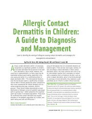 Allergic Contact Dermatitis in Children: A Guide to Diagnosis and ...