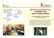 the health and welfare seta conference and annual general meeting