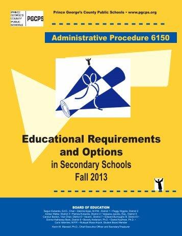 Administrative Procedure 6150 - Prince George's County Public ...