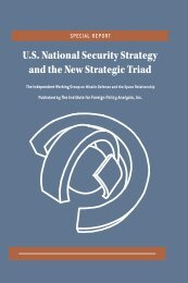U.S. National Security Strategy and the New Strategic Triad