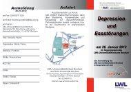 Programm und Anmeldung (pdf) - LWL - Universitätsklinik Bochum