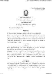 Consiglio di Stato sez. V 15/4/2013 n. 2063. - Appalti e Contratti