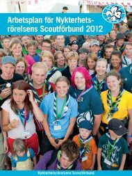 Arbetsplan 2012 - Nykterhetsrörelsens Scoutförbund