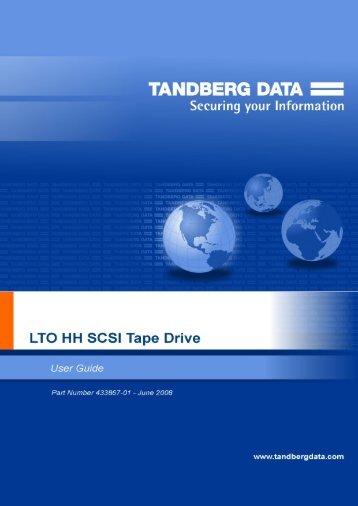 TRADEMARK NOTICES: Tandberg Data