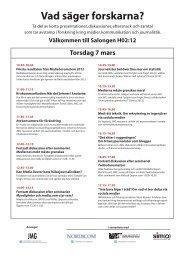 Välkommen till Salongen H02:12 Torsdag 7 mars 10.30 ... - JMG