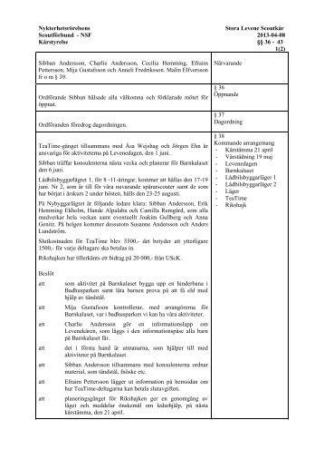 130408Kårstyrelse - Nykterhetsrörelsens Scoutförbund