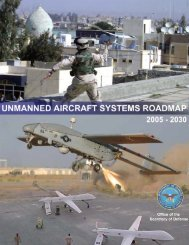 unmanned aircraft systems [uas] roadmap 2005 - GlobalSecurity.org