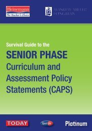 Survival Guide to the Senior Phase CAPS