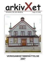 Nr 1/2008 Verksamhetsberättelse - Arkiv Gävleborg