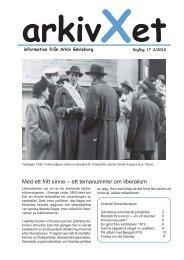Nr 2/2010 Tema liberalism - Arkiv Gävleborg
