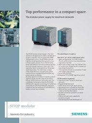 Brochure: SITOP modular - Siemens