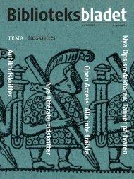 BBL nr 6 - Biblioteksbladet