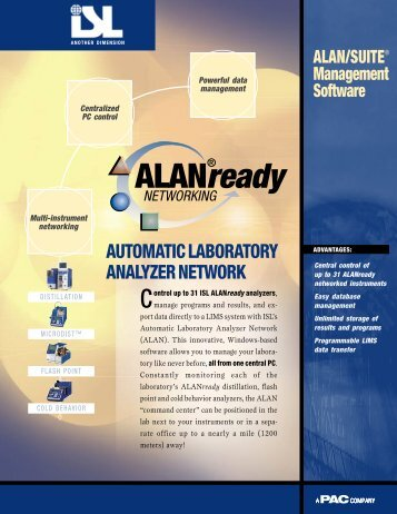 automatic laboratory analyzer network - John Morris Scientific