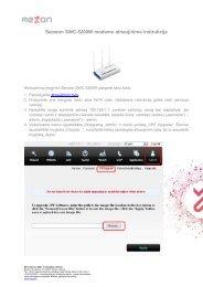 Seowon SWC-5200W modemo atnaujinimo instrukcija - MEZON