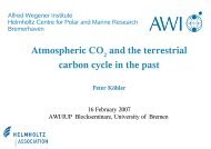 Atmospheric CO and the terrestrial carbon cycle in the past