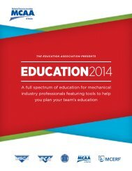 Education Guide - the Mechanical Contractors Association of America!