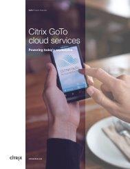 GoTo Cloud Services Overview - Citrix Online