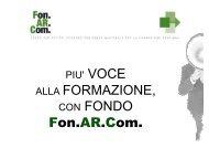 Breve presentazione del Fondo Fon.Ar.Com - FederLab Italia