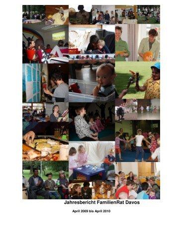 Jahresbericht April 2009 - Mai 2010 - FamilienRat Davos