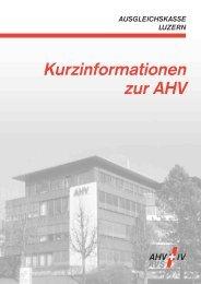 Kurzinformationen zur AHV - Ausgleichskasse Luzern