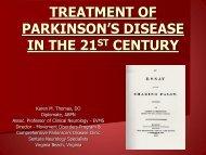 Diagnosis and Treatment of Parkinson's Disease - Sentara.com