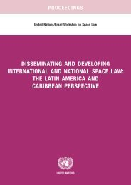 disseminating and developing international and national space law