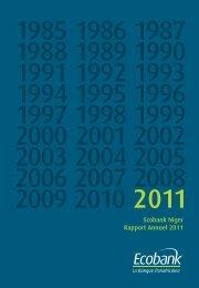 Ecobank Niger Rapport Annuel 2011