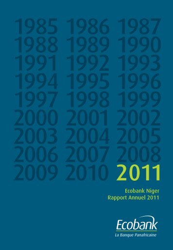Ecobank Niger Rapport Annuel 2011