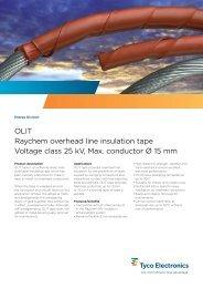 OLIT Raychem overhead line insulation tape Voltage class 25 kV ...