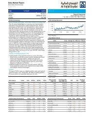 Daily Market Report - Al Rajhi Capital