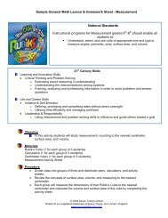 Sample General Math Lesson & Homework Sheet - You CAN Do the ...