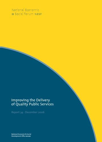 Improving the delivery of quality public services. - National ...