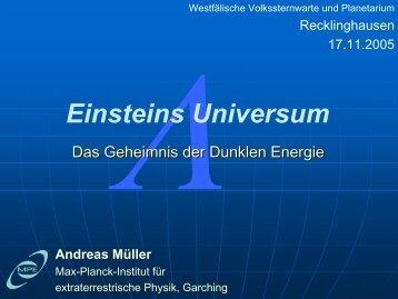 Einsteins Universum - Wissenschaft Online