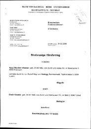 Strafanzeige / Strafantrag - VgT