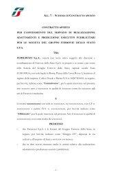 All. 7 Schema di contratto aperto e suoi allegati - Ferrovie dello Stato ...