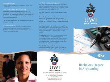 BSc Accounting - Open Campus - Uwi.edu
