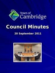 Council Minutes - Town of Cambridge