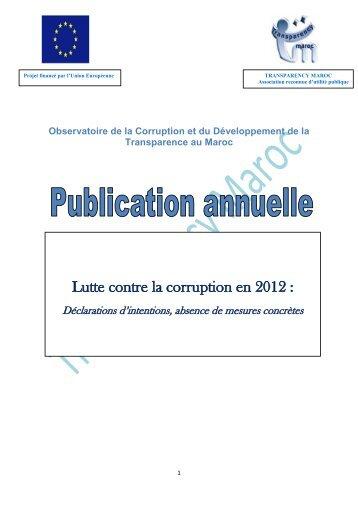 Revue de presse anuelle 2012 - Transparency