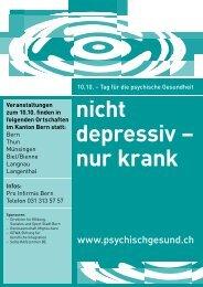 Kanton Bern - 10.10. Tag für die psychische Gesundheit