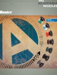 pro-spray adjustable arc nozzles brochure - Hunter Industries