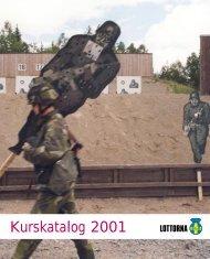 Kurskatalog 2001 - Svenska Lottakåren - Lottorna