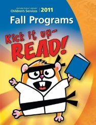 Programs Fall 2011 - Sachem Public Library